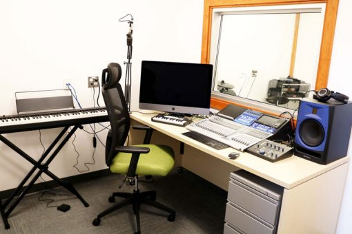 The working setup in our Fort Frances audio lab