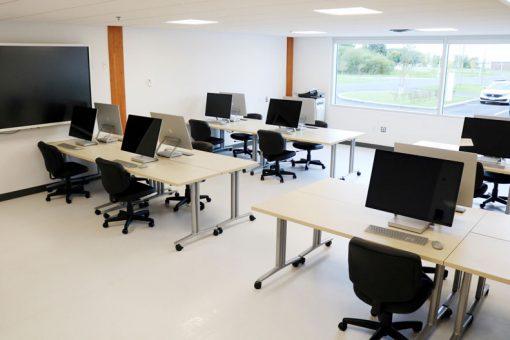 Workstations inside our Fort Frances computer lab