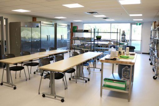 The Fort Frances Culinary Lab featuring a large working space