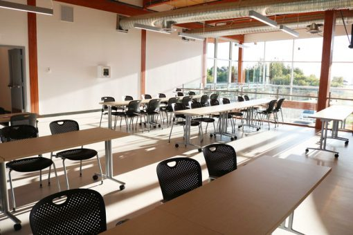 Plenty of seating an space at the Fort Frances campus Mezzanine