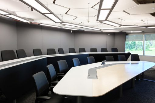 Seating area in our Telepresence room.